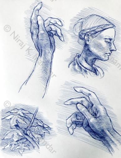 Le mani ed un profilo (2018)