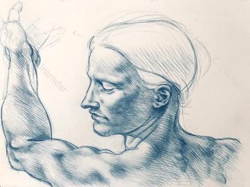 Study after Michelangelo (2018)
